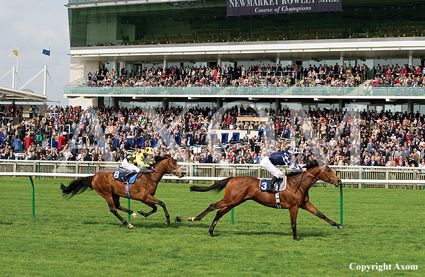 Diescentric winning the Wood Ditton Stakes at Newmarket