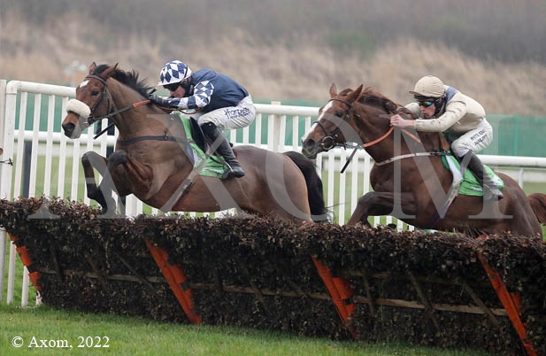 Irving winning the Grade 1 Fighting Fifth Hurdle at Newcastle - 29 November 2014
