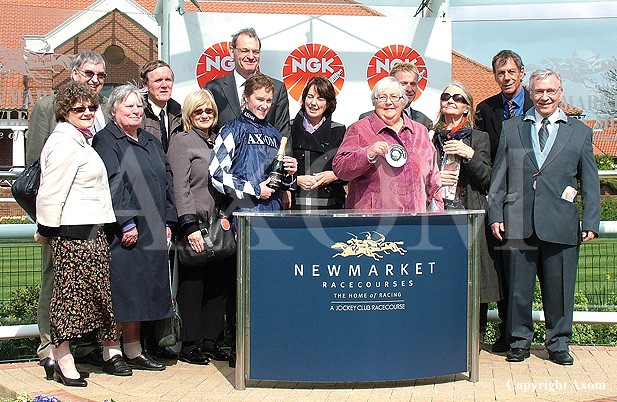 Owners and Henry Cecil following Diescentric's win at Newmarket