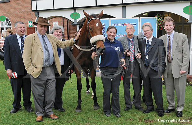 Owners with Beat The Rush after his win at Pontefract