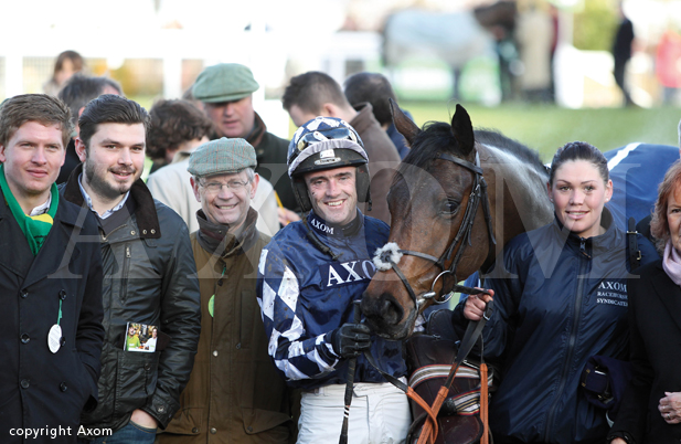 Owners with Far West and Ruby Walsh at Cheltenham